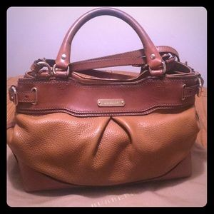 Well-loved Burberry bag! Brown w/ nova check!